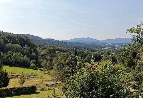 herrliche Aussicht in den Bayerwald